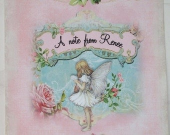 FaIRY PERSONALIZED CARDS - Set of 4 Notecards and envelopes - FNC 89876