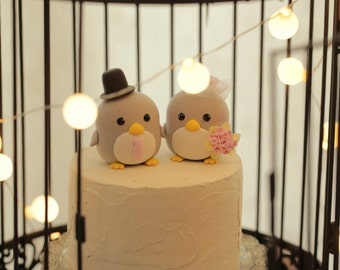 penguin cake topper --Special Edition,penguin wedding cake topper
