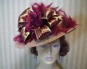 Kentucky Derby Hat Preakness Hat Easter Hat Tea party Hat Ascot Hat Belmont Hat Church Hat By Ms.Purdy