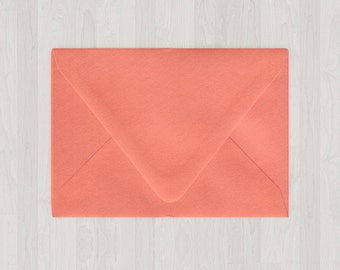 10 A2 Envelopes - Euro Flap - Coral & Peach - DIY Invitations and Response Cards - Envelopes for Weddings and Other Events