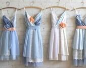 Custom Light Blue Bridesmaids Dresses