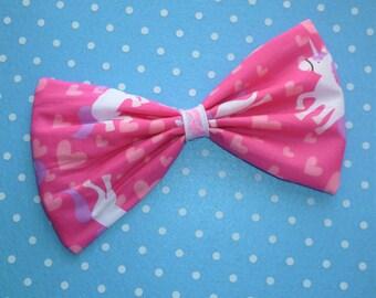 Large Fairy Kei Unicorn Hair Bow Clip