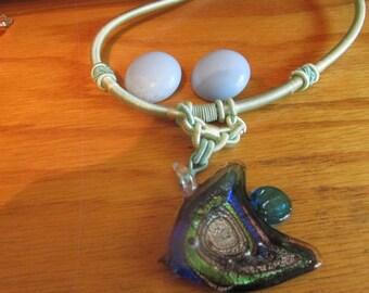 glass angel fish neck ring