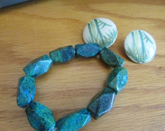 Green stone bracelet plus
