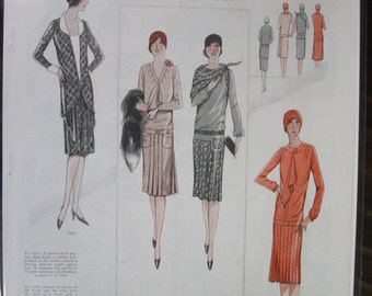 "FAS-L 129  ""L'Echo De Paris...""   Pattern Fashion Ad - September  1928"