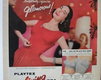 """FAS-L 173   """"Playtex living Bra""""  Ad -   January 1956"""