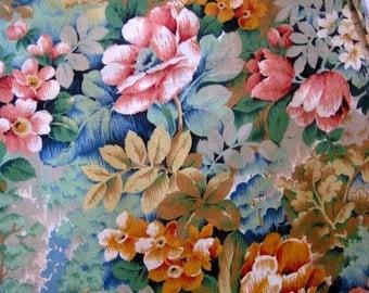 Vintage Cotton Floral Fabric