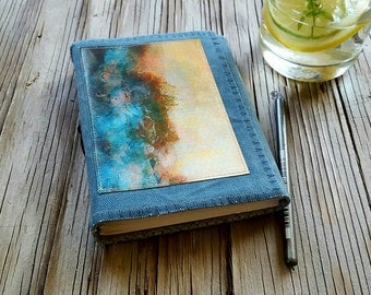 SALE after the storm journal -  waxed blue canvas travel journal