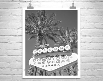 Las Vegas Art, Black and White, Neon Sign, Vegas Photographs, Las Vegas Strip, Old Las Vegas, Vertical Art Print, Murray Bolesta