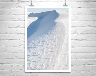 White Sands, Minimalist Photography, New Mexico, Sand Dune, Vertical Print, Desert Art, Elegant, Wall Art, Desert Picture, Murray Bolesta