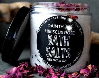 Rose Bath Salts. Romantic Gift. Epsom Salt Soak. Rose Scent. Dead Sea Salts. Rose Petals. Gift for Her. Gift for Mom. Herbal Bath. Funny.