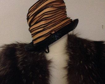 Authentic Elegant Vintage Christian Dior Summer Hat