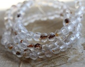 CLEAR BITS No. 5040 .. NEW 30 Premium Picasso Mix Czech Rondelle Beads 3x5mm (5040-st)