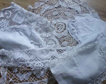 collection of large doilies