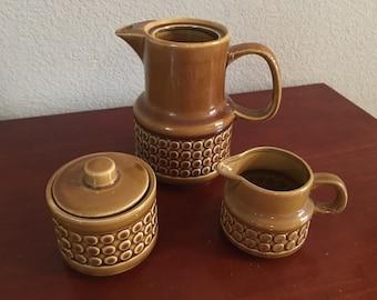 1970's Mod 3-Piece Coffee/Creamer/Sugar Set