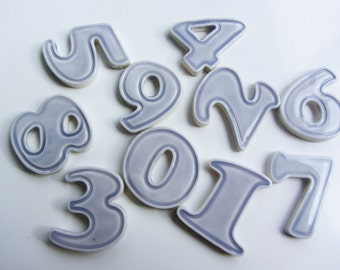 ceramic numbers for mosaics or other craft projects great for door house numbers