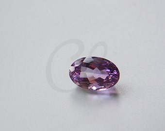 One Piece Oval Cut Natural Amethyst Stone Cabochons - Untreated Sparking Loose Stone