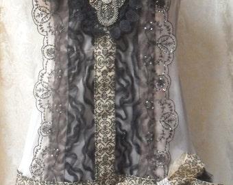 MidWinter Sale 20% Off FLAPPER 1920s Gatsby Roaring 20's Downton Abbey Speakeasy - Vintage Slip Make Over