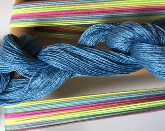 Caribbean fun Scarf Weaving Kit-Blue, green, yellow yarn-Handmade-Handwoven-Rigid heddle loom- Floor loom-Table loom-weaving