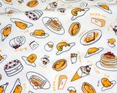 Sanrio fabric Gudetama 50 cm by 53  cm or 19.6 by 21 inches