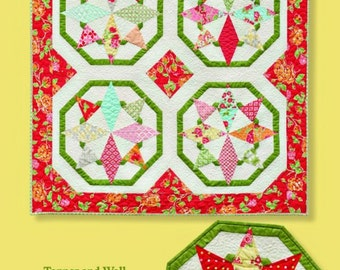 Clearance PATTERN SUMMER STARS Wall Quilt and Table Topper