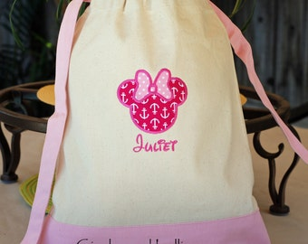 Personalized Disney Cruise autograph canvas tote bag