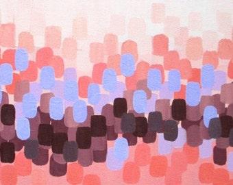 Lavender and Peach abstract art, oil painting, wall decor, home decor, wisteria, lavender, peach, original art
