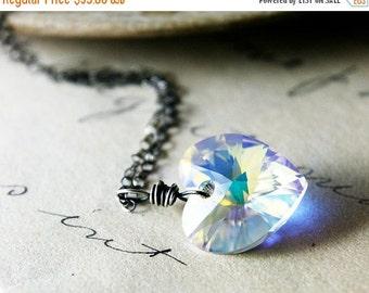 ON SALE Crystal Heart Pendant, Crystal Heart Necklace, Crystal Heart, Crystal Necklace, Crystal Pendant, Swarovski Crystal, Swarovski Heart