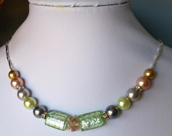 Rainbow Pastel Pearl Necklace Set (Free Shipping to Canada & USA)