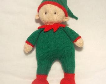 Elliot Christmas Cuddle Elf knitting pattern