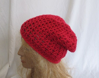 SALE - Bright Pink Slouchy Beanie, Slouch Beanie, Slouch Hat, Slouchy Hat, Winter Slouch Hat, Winter Slouchy Beanie, Crochet Slouch Hat