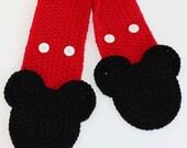NEW -Favorite Mouse Pocket Crochet Scarf Pattern - PDF