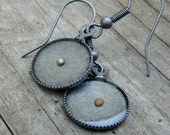 RESERVED LISTING for Rachael... 2 Pairs of Mustard Seed Earrings - Matte Antique Silver Mustard Seed Earrings - Mustard Seed Dangly Earrings