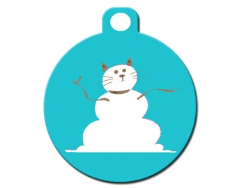 Custom Pet ID Tag Merry Christmas on the front by CanadianPetTags
