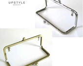FREE Shipping to USA - 8 x 3 Metal Purse Frames - Set of 20 - NIckel Free Nickel, Antique Gold, with and without chain loops
