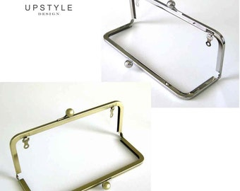 8 inch x 3 inch Metal Purse Frames - Set of 6 Classic Style - Antique Gold or Nickel (Silver) - Ships from USA