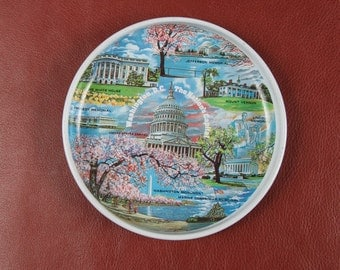 Adorable Washington DC Souvenir Tin Tray