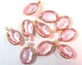 Vintage Pink Rose Oval Channels 12