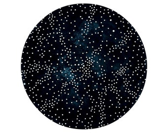 Imaginary Star Chart Number 19 - Original Contemporary Watercolor Painting - Minimalist Astronomy Art - by Natasha Newton