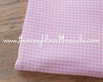 Adorable Pink Gingham- Vintage Fabric Juvenile Doll Making 1/8 inch squares 36 in wide