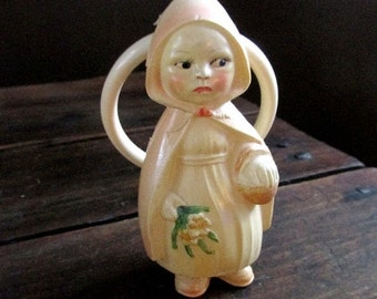 Little Red Riding Hood Viscoloid baby rattle and teething ring - 1920s