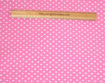 1 yard Knit Bubblegum small dots Excellent quality
