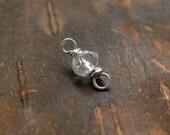 Add QUARTZ (Apr) to your mother's necklace, APRIL birthstone bead, family necklace, birthstone necklace, couple's necklace.