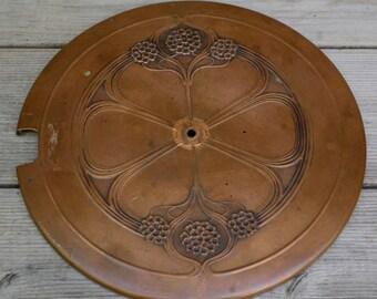 Antique Art Nouveau Copper Lid
