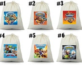 12 SkyLanders Birthday Party Favor Candy Loot Treat Drawstring Bags