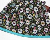 Sugar Skull - Punk Rock Baby -  Toddler Girl - Day of the Dead - Girls Skirts - Baby Skirt - 3m, 6m, 12m, 18m, 2t, 3t, 4t, 5t, 6, 7, 8