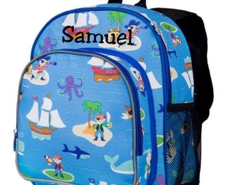 Monogram Backpack and Lunch Bag - Wildkin - Pirates - Preschool Day Pack Back to School