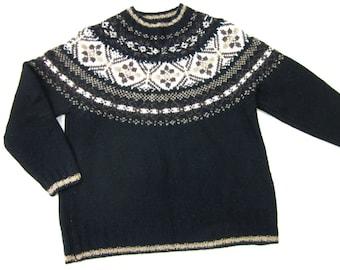 Vintage Eddie Bauer, Womens Icelandic Sweater, Wool, Sz S