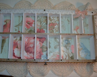 Vintage Store Drawer - Vintage Display Box -Hand decorated - Beautiful shabby look - Collection Display box -Keepsake box