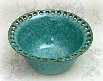 Jewelry Bowl in Speckled Aqua